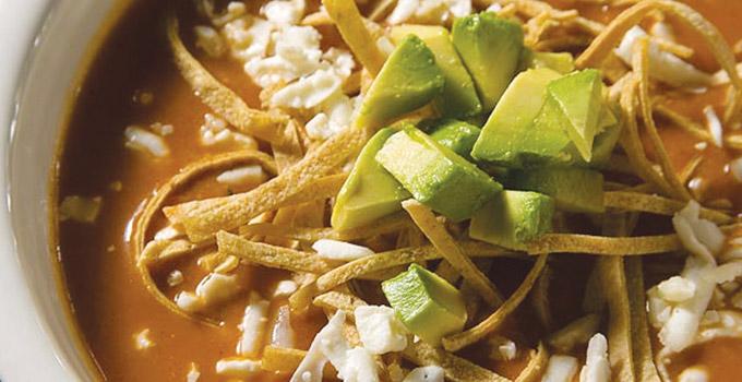 Deliciosa sopa de tortilla
