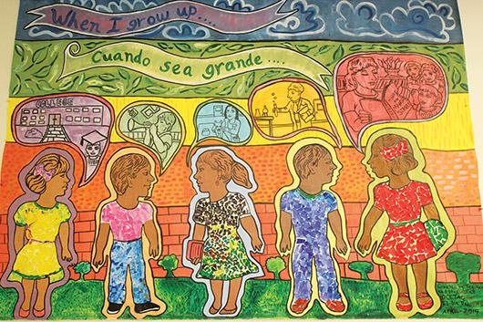 """""""Cuando sea grande"""" mural dedicado al Día del Niño"""