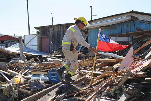 Tragedia y destrucción en Chile