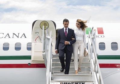 Peña Nieto en su primera visita a Los Angeles