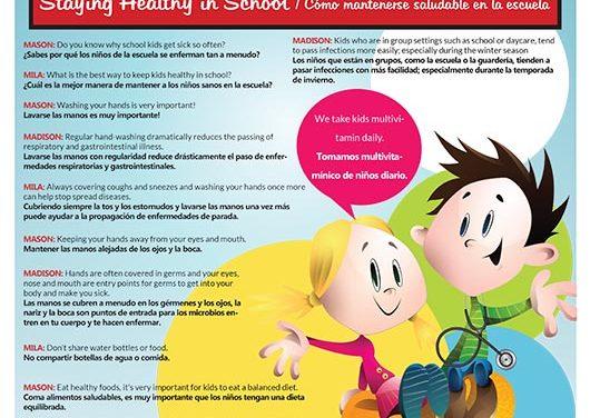 Cómo mantenerse saludable en la escuela-Staying Healthy in School