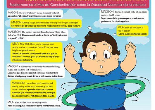 Septiembre es el Mes de Concientización sobre la Obesidad Nacional de la Infancia