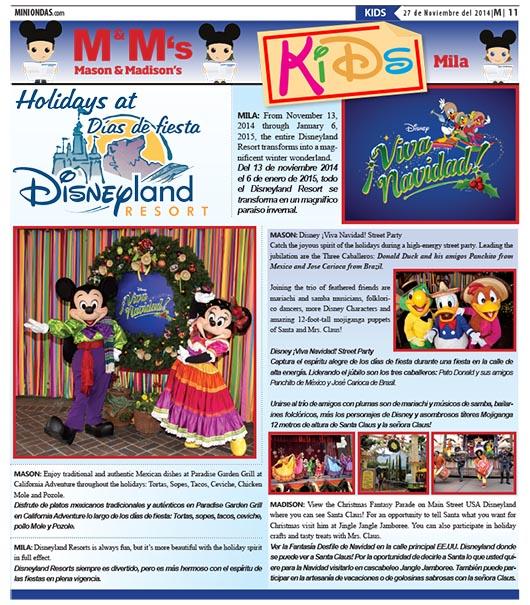 Holidays at/Día de fiesta en Disneyland Resort