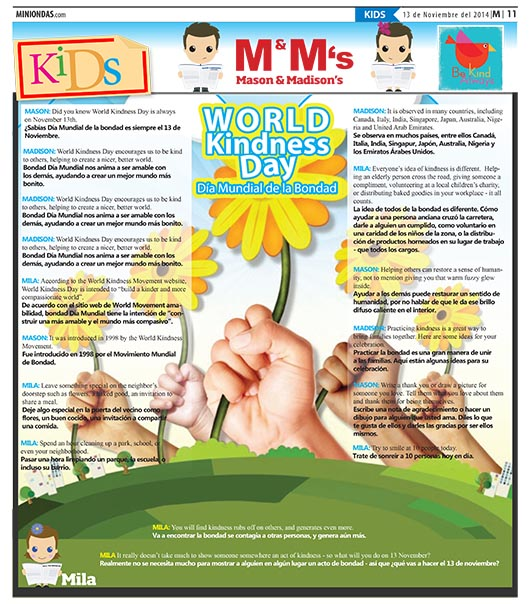 World Kindness Day/Día Mundial de la Bondad