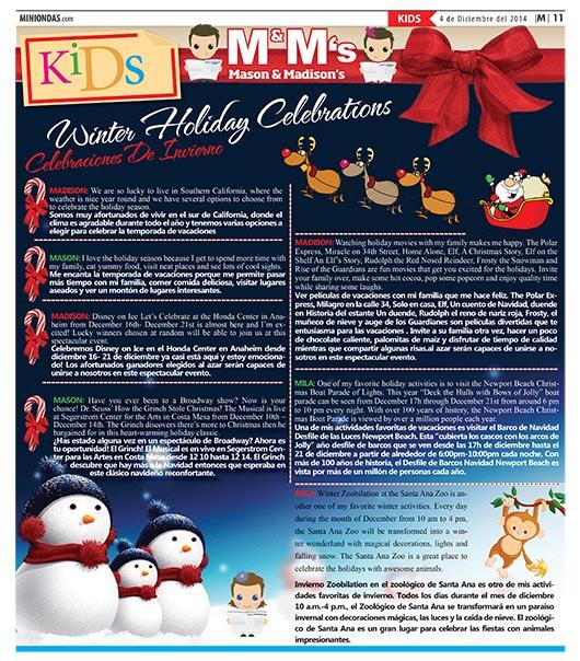 Winter Holiday Celebrations/Celebraciónes De Invierno