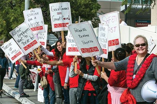 Huelga de Trabajadores de Salud Mental en  California