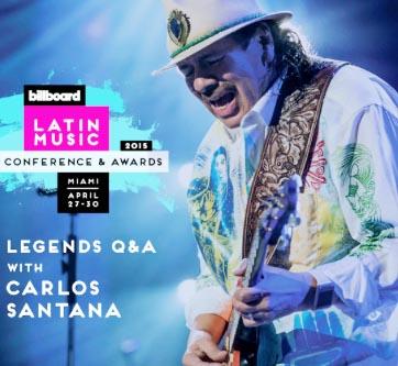 Carlos Santana en Billboard a La Música Latina 2015