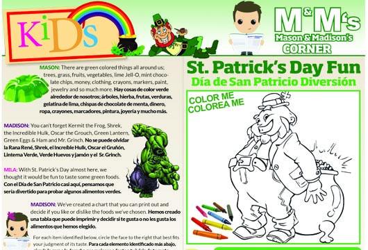St. Patrick's Day Fun /Día de San Patricio Diversión