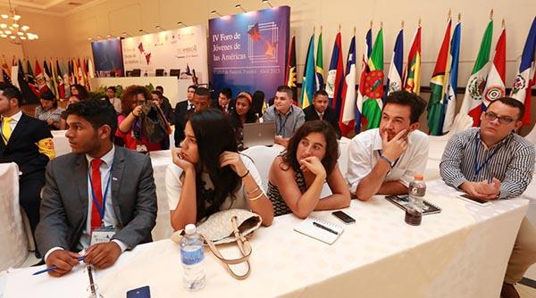 Concluye exitosa primera jornada del IV Foro de Jóvenes de las Américas