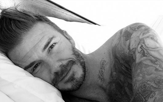 David Beckham celebrando sus 40 años