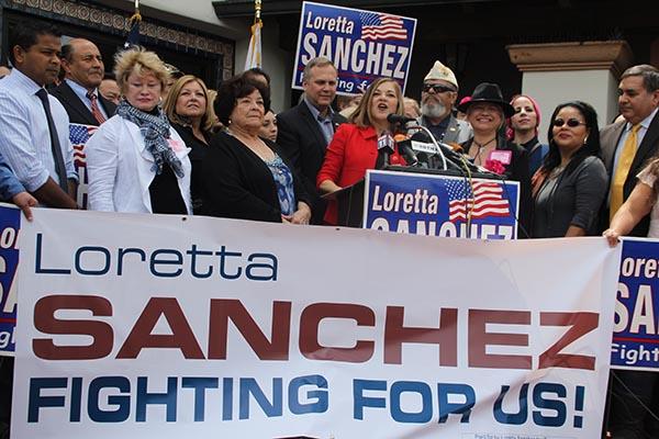 Loretta Sánchez anuncia su candidatura al Senado de los EU