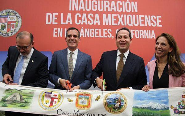 Gobernador del Estado de México inaugura Casa Mexiquense en L.A.