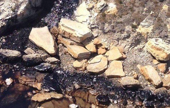 Santa Barbara, ciudad ecológica, con derrame de petróleo en el Pacífico