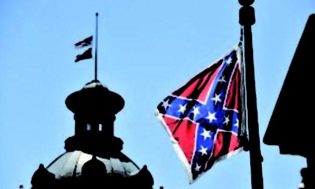 La batalla por la bandera confederada