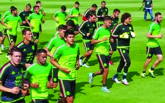 La selección Nacional de México en preparación