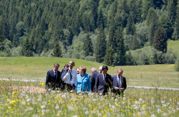 Protestas en la Cumbre del G7 en Alemania