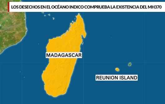 Los desechos en el Océano Indico comprueba la existencia del MH370