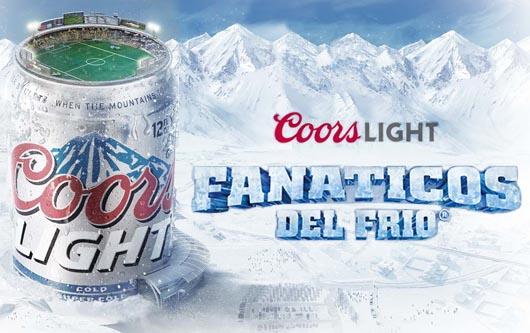 Coors Light refresca a los fanáticos del fútbol