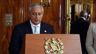 Otto renuncia a la presidencia de Guatemala