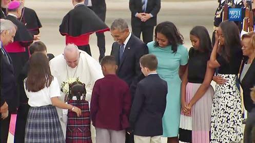 ¡El Papa ya está en los Estados Unidos!