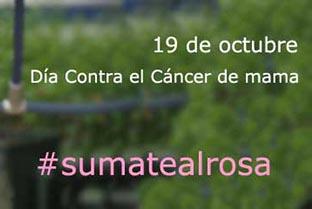 ¡Súmate al rosa!: 19 de octubre Día Contra el Cáncer de Mama 2015