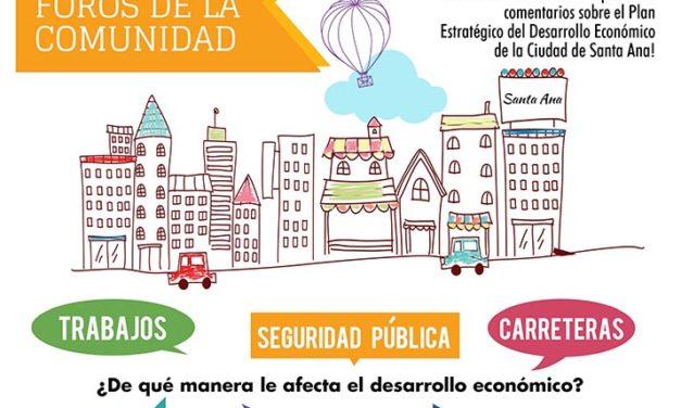 Santa Ana: Foros Comunitarios sobre Plan Estratégico de Desarrollo Económico