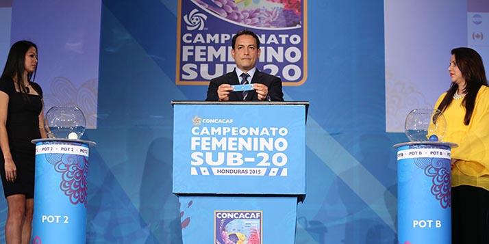 Sorteo del Campeonato Femenino Sub-20 de CONCACAF Honduras 2015