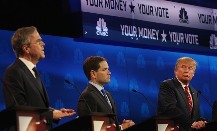 Candidatos rechazan aumento de salario mínimo en debate republicano