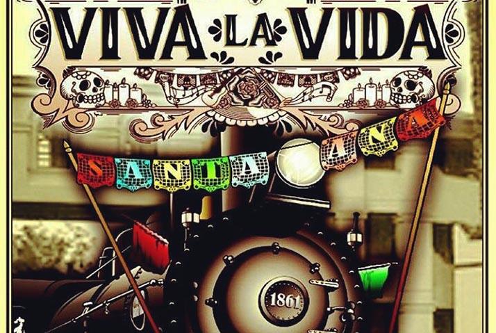 Primer Festival de Día de los Muertos ¡Viva la Vida! en la estación del tren de Santa Ana