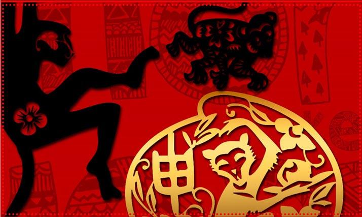 El 2016 «Año del Mono Rojo de Fuego» en el Calendario Chino