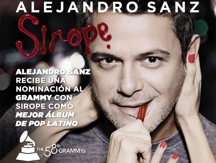 Con Sirope Alejandro Sanz es nominado al Grammy «Mejor Album Pop Latino»
