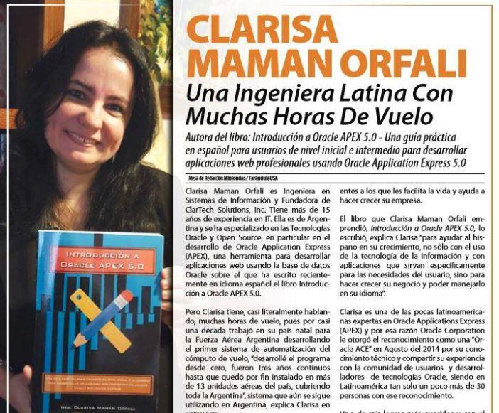 Clarisa Maman Orfali, una ingeniera latina con muchas horas de vuelo
