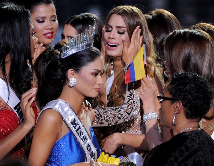 En el trono tres minutos, Ariadna Gutiérrez es considerada «la otra» Miss Universo