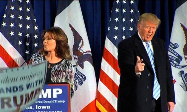Sarah Palin apoya a candidato republicano Donald Trump