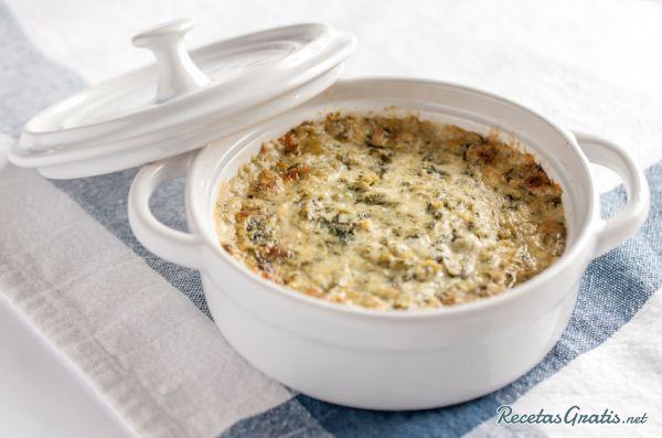 Receta de Dip de espinacas y queso