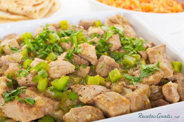 Receta de Puerco en salsa verde