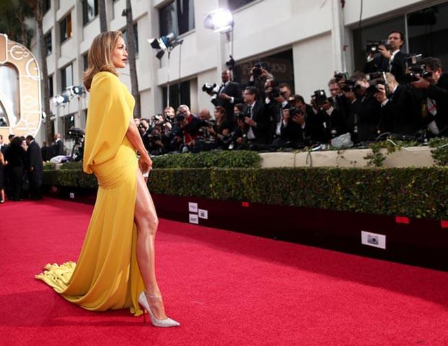 J. Lo y Eva Longoria de las mejor vestidas de los Golden Globes 2016