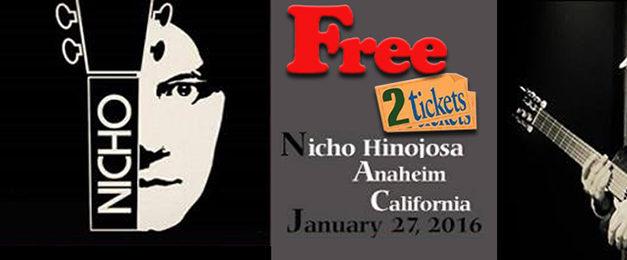 Gratis! 2 tickets Nicho Hinojosa at Xalos
