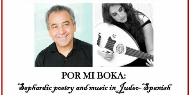 Por Mi Boka: Poesía sefaradí y música judeo-hispana en Museo Bowers