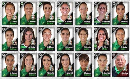 Convocadas a la Selección Nacional de México al Preolímpico Femenino de la CONCACAF