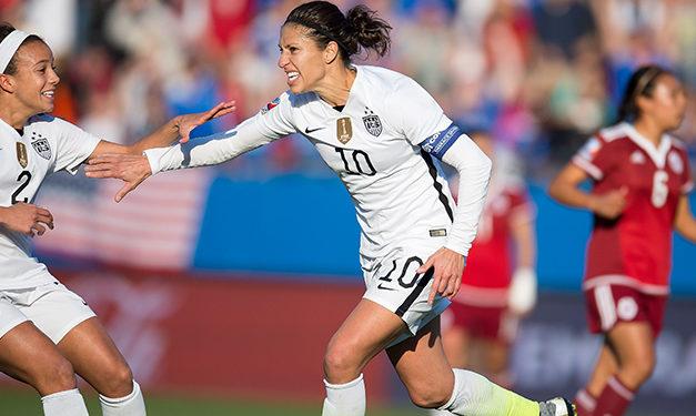 Con gol de Lloyd, EE.UU venció a México y avanzó a semifinales del Preolímpico Femenino