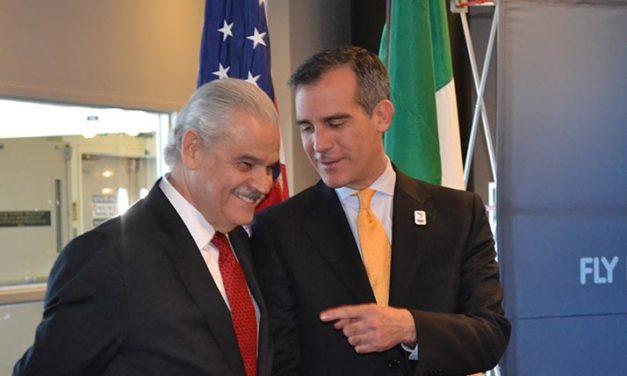 Embajador de México en Estados Unidos, Miguel Basáñez, realiza visita de trabajo a Los Ángeles