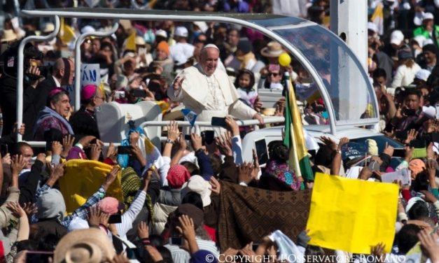 Papa Francisco le pide perdón a pueblos indígenas de Chiapas