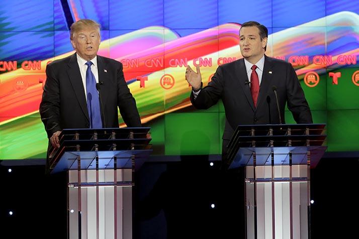 Marcos Rubio y Ted Cruz se ubican como los oponentes a vencer por Trump