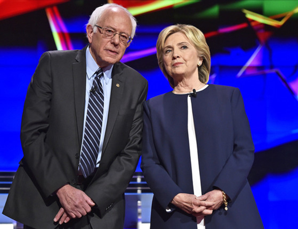 Bernie Sanders y Hillary Clinton debatieron en Milwaukee, Wisconsin