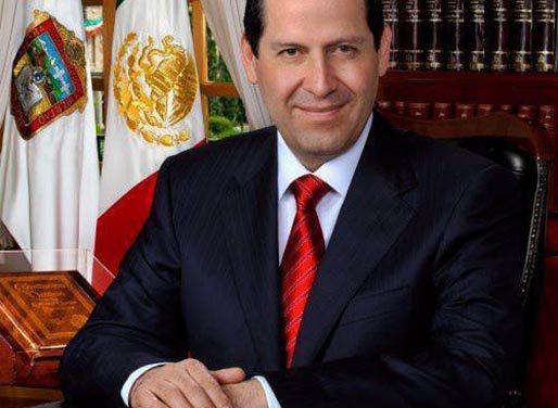 Eruviel Ávila, gobernador del Estado de México, visita la ciudad de Los Ángeles