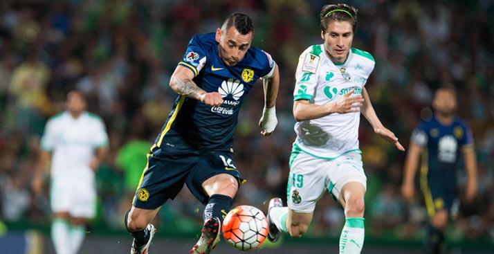 América y Santos empatan en disputado juego de Liga de Campeones