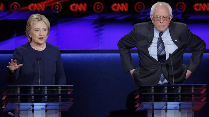 Sanders gana en tres de cuatro estados en elecciones del fin de semana; Clinton aún tiene más delegados