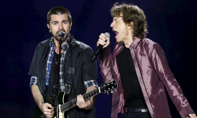 Juanes aparece sorpresivamente en concierto de The Rolling Stones en Colombia