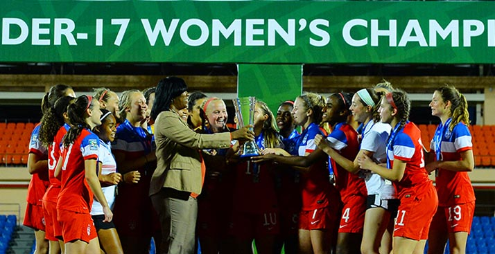 ¡E.U. campeón Sub-17 femenil!